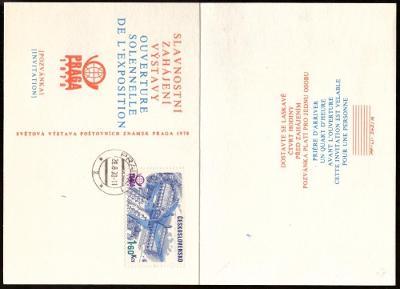 ČSSR - POZVÁNKA NA ZAHÁJENÍ VÝSTAVY PRAGA 1978 (S2157)