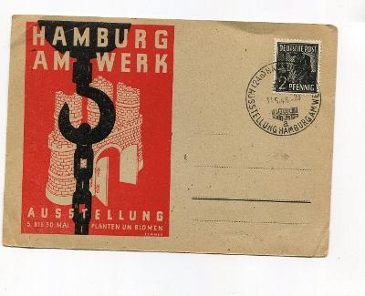 NĚMECKO - HAMBURK V PRÁCI - VÝSTAVA  1948  /AR 46-9