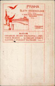 10B2911 Objednávkový lístek Praha všesokolský slet
