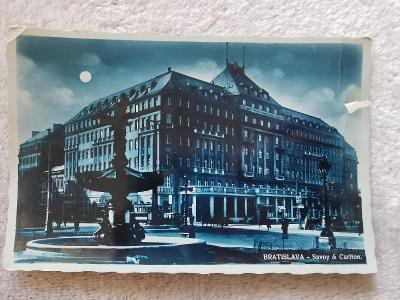 Pohled MF Bratislava Hotel Savoy Carlton