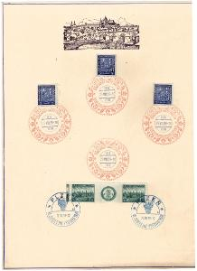 PAMĚTNÍ LIST VÝSTAVA TURČIANSKÝ SV. MARTIN + PLZEŇ 1938 (S2193)