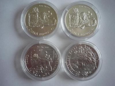Český lev stříbrné investiční mince 1 oz 2018, 2019, 2020 a 2021