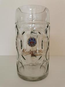 Tuplák Budějovický Budvar - Budweiser - pivní sklo VELKÉ LOGO