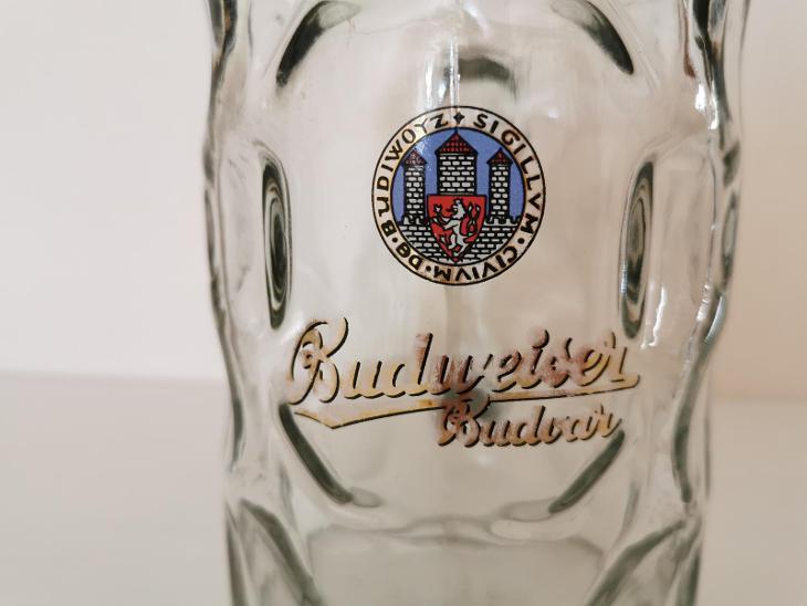 Tuplák Budějovický Budvar - Budweiser - pivní sklo VELKÉ LOGO - Nápojový průmysl