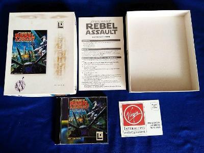 PC - STAR WARS REBEL ASSAULT, komplet BIG BOX (retro rok 1993) Top