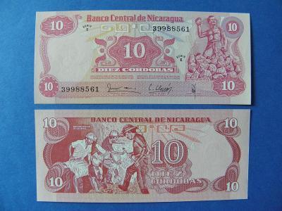 10 Cordobas 1979 Nicaragua - P134 - UNC - /H303/