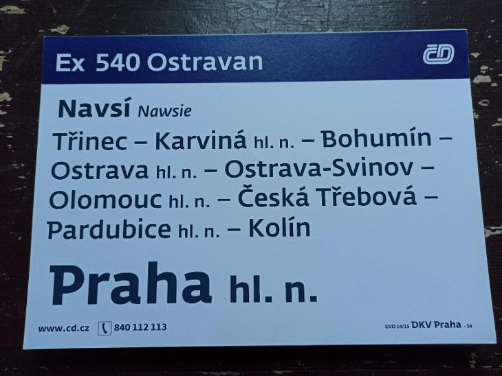 Směrová cedule - Ex 540/541 OSTRAVAN - Ostatní