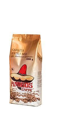 italská zrnková káva Amigos  Qualita Extra bar 1kg