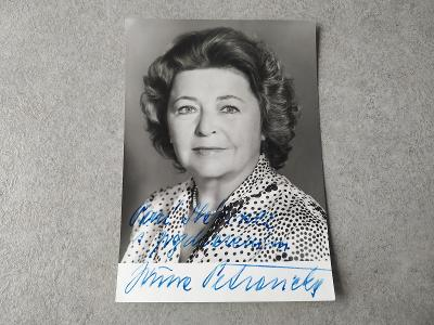 Starý podpis Sbírka Podpisů Jiřina Petrovická  Umělec Filipovský Foto