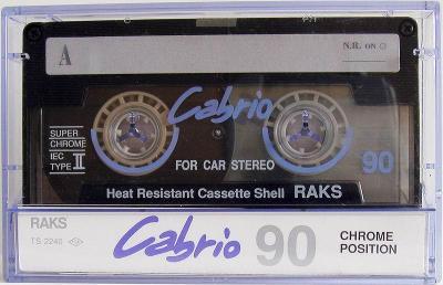 Audio Kazeta RAKS Cabrio Super Chrome Position 90