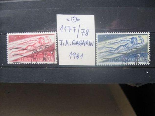 1177 / 1178 - J. A. Gagarin 1961 - první člověk v kosmu (2) - H-17 - Filatelie
