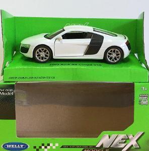 2009 Audi R8 Coupé V10 - Welly 11,5cm měřítko 1/34 až 1/39 (M19-5)