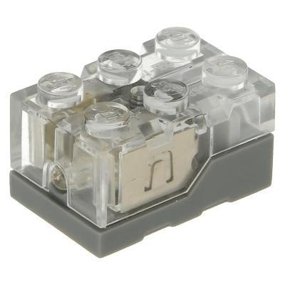 5x Lego Light Brick 2 x 3 x 1 1/3 čirá kostka a žluté světlo