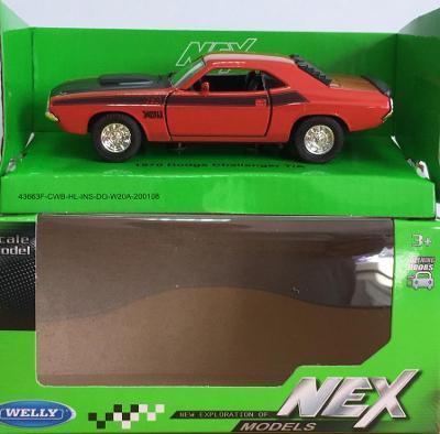 1970 Dodge Challenger T/A- Welly 11,5cm měřítko 1/34 až 1/39 (M19-11)