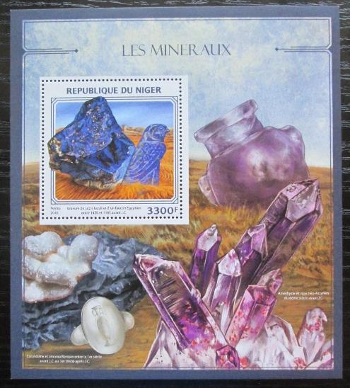 Niger 2016 Minerály Mi# Block 587 Kat 13€ 2227 - Filatelie