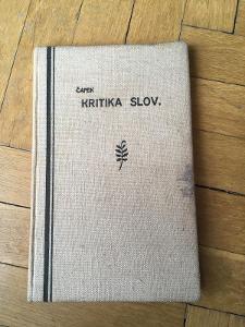 Kritika slov / Karel Čapek / Aventinum Praha 1927