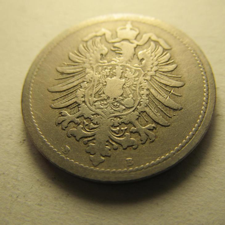 Německo, Kaiser Reich , 10 pfennig z roku 1876 B - Numismatika