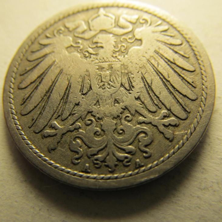 Německo, Kaiser Reich , 10 pfennig z roku 1890 A - Numismatika