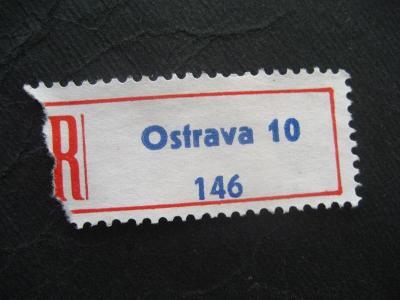 ČSSR II R nálepka Ostrava 10