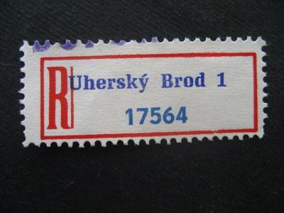 ČSSR II R nálepka Uherský Brod 1