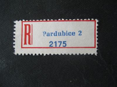 ČSSR II R nálepka Pardubice 2