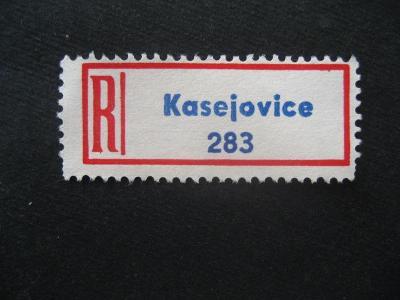 ČSSR II R nálepka Kasejovice