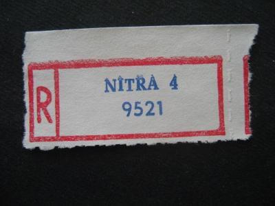 ČSSR II R nálepka Nitra 4