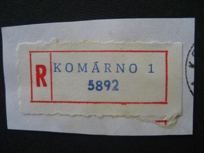 ČSSR II R nálepka Komárno 1