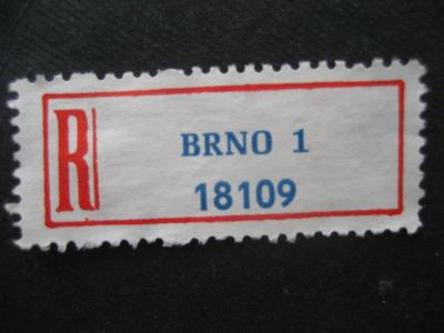 ČSSR II R nálepka Brno 1