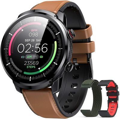 Smart stylové hodinky Hommie L3 / 3 vyměnitelné řemínky / 9 sport modů