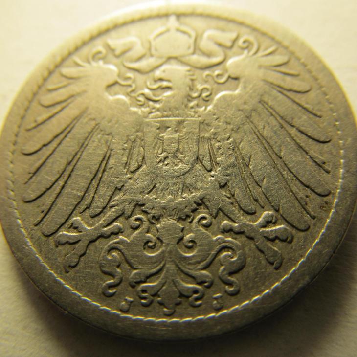 Německo, Kaiser Reich , 10 pfennig z roku 1898 J - HLEDANÁ - Numismatika