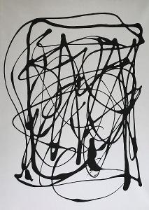 Abstrakce I. Akryl 40x30 na plátně