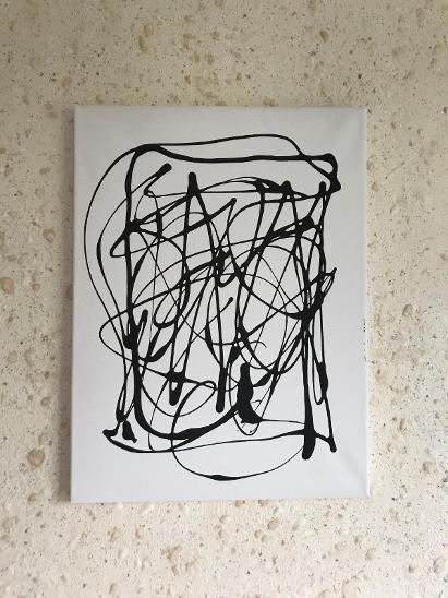 Abstrakce I. Akryl 40x30 na plátně - Umění
