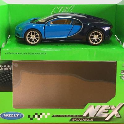 Bugatti Chiron - Welly 11,5cm měřítko 1/34 až 1/39 (H12-4)