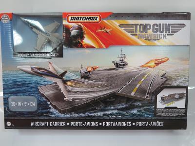 Matchbox - letadlová loď Top Gun Maverick s letadlem Boeing F/A-18