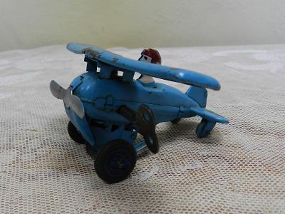 Staré kovové Letadlo na klíček Drukov