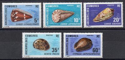 Komory-Mušle 1971**  Mi.129-133 / 26 €