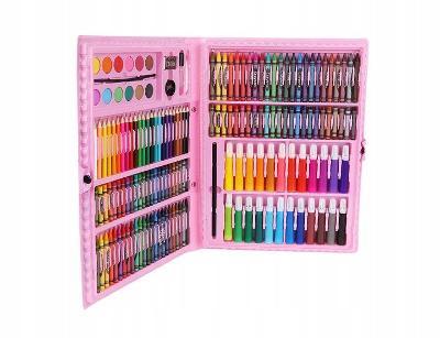 Výtvarná sada na malování Mega Art Set 168 ks 0501 růžová