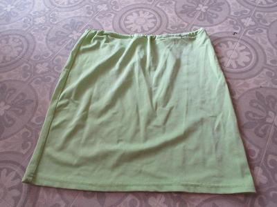 sukně světlá   zelená elastická