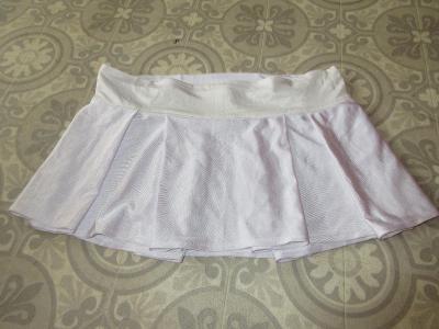 sukně bílá  široká