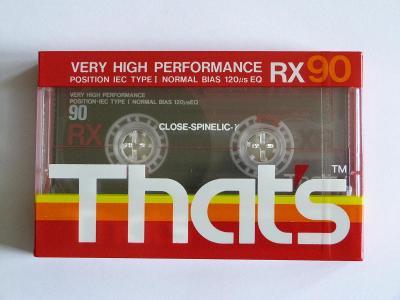 kazeta That´s RX 90, typ I, 1989