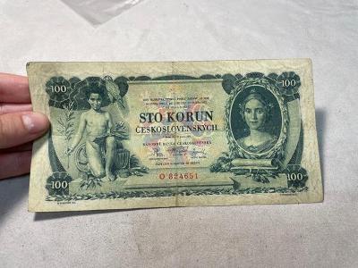 Bankovky - 100 Kčs, serie O, CH42
