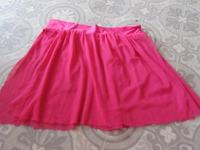 sukně široká mini ružová