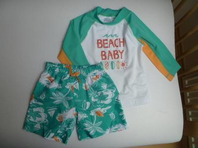 Plavkový set, tričko, šortky, vel. 18-24 měsíců, zn. GYMBOREE,kvalitní
