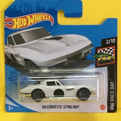 '64 Corvette Sting Ray - Hot Wheels 2021 10/250 (L9-b7)