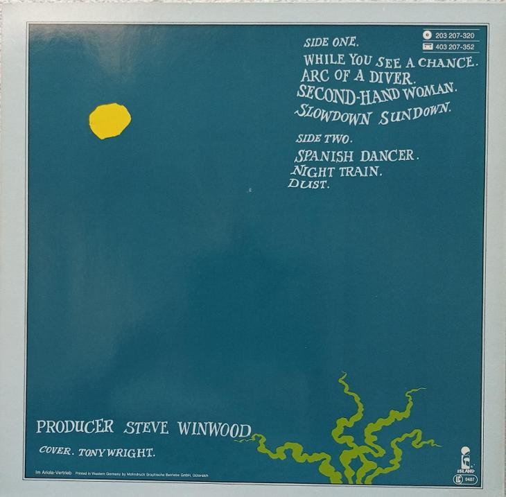 Steve Winwood - Arc of A Diver - ISLAND 1980 - EX+ - Hudba