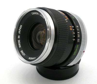 Objektiv CANON FD 35/3,5 + KRYTKY v pěkném funkčním stavu (Baj. Canon)