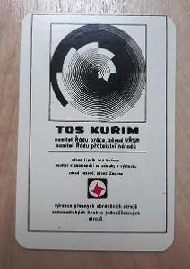 Kapesní kalendářík firemní TOS Kuřim, rok 1986