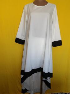 .*XL-XXXL ŠMRNCOVNÍ SPLÝVAVÉ ŠATY-DELŠÍ TUNIKA ( HEDVÁBÍ)*