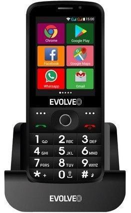 EVOLVEO EasyPhone AD, chytrý mobilní telefon pro seniory, stojánek